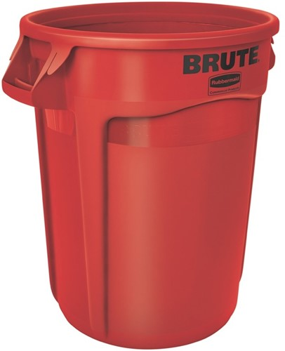 Rubbermaid Ronde Brute Container, 121,1 L, Rood