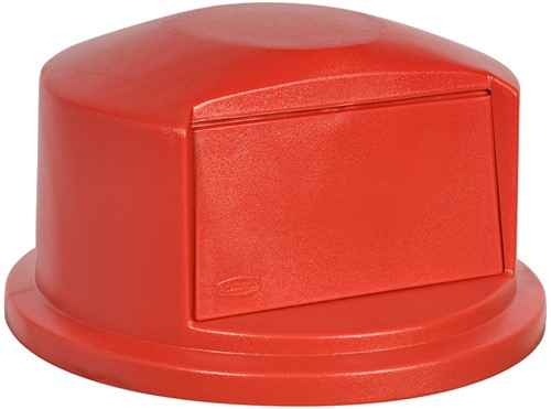 Rubbermaid Brute Dome Deksel, Rood, 166,5 L