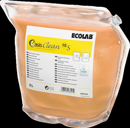Ecolab Oasis Clean 10 S - Allesreiniger/Ontvetter, 2 x 2 L