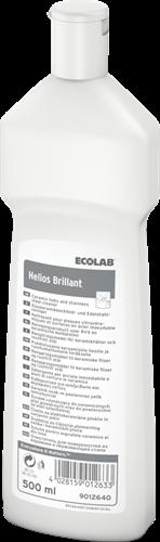 Ecolab Helios Brillant - Vloeibaar zacht schuurmiddel, 6 x 500 ml
