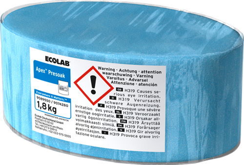 Ecolab Apex Presoak - Vaatwas, 3 x 1,8 kg
