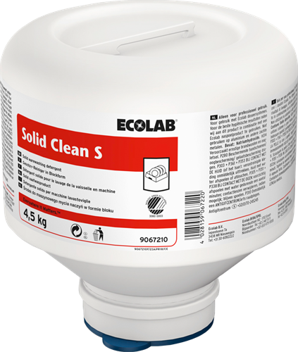 Ecolab Solid Clean S - Zacht water, 4 x 4,5 kg