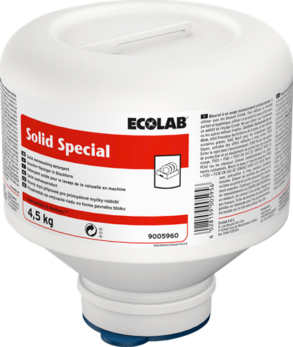 Ecolab Solid Special - Zacht water, 4 x 4,5 kg