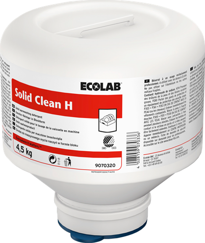 Ecolab Solid Clean H - Hard water, 4 x 4,5 kg