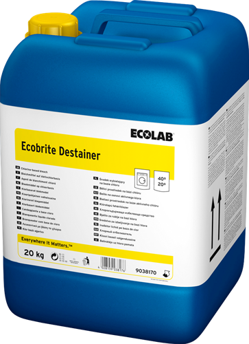 Ecolab Ecobrite Destainer - Bleekmiddel voor Wit textiel, 20 kg