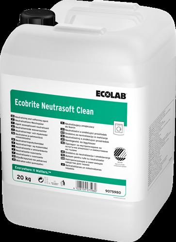 Ecolab Ecobrite Neutrasoft Clean - Wasverzachter, 20 kg