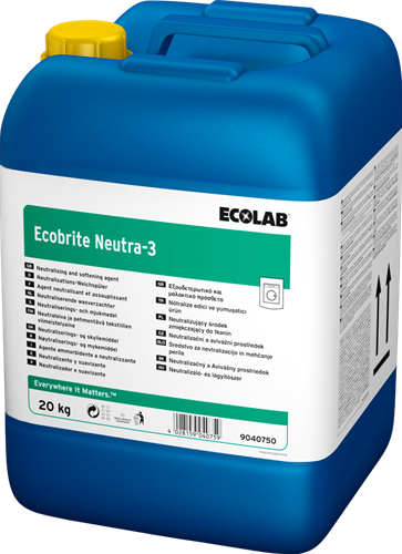 Ecolab Ecobrite Neutra-3 - Wasverzachter, 20 kg