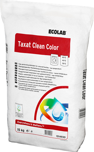 Ecolab Taxat Clean Color - Waspoeder, 15 kg