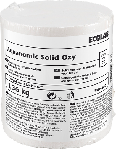 Ecolab Aquanomic Solid Oxy,  2 x 1,36 kg