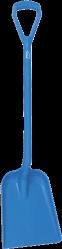 Vikan Ergonomische Schop, D-greep, 1035mm, Groot diep blad, Blauw