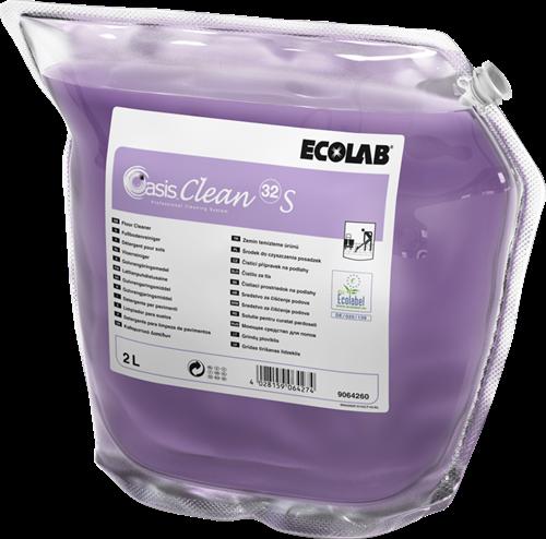 Ecolab Oasis Clean 32 S - Vloerreiniger, 2 x 2 L