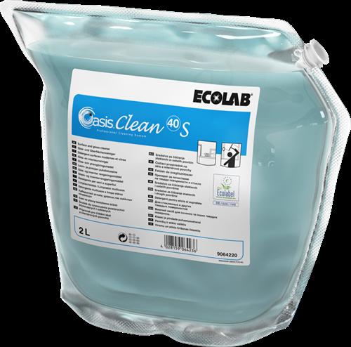 Ecolab Oasis Clean 40 S - Alles- en glasreiniger, 2 x 2 L
