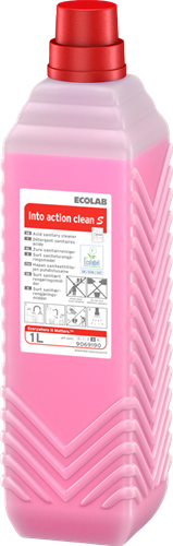 Ecolab Into Action Clean S - Sanitairreiniger, 6 x 1 L