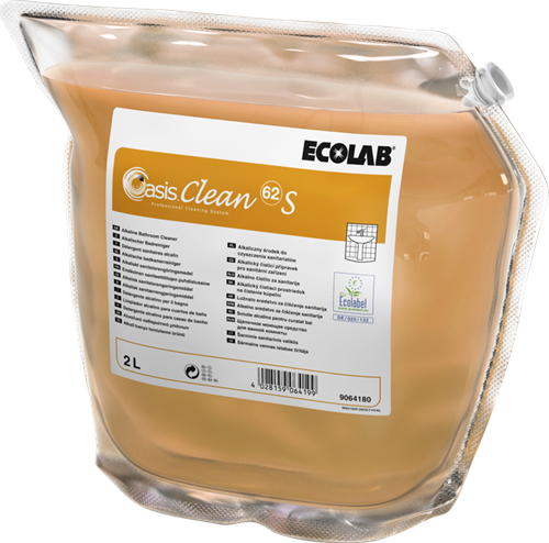 Ecolab Oasis Clean 62 S - Badkamerreiniger, 2 x 2 L