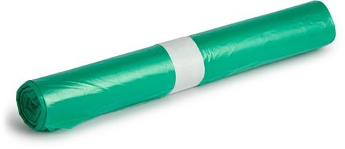 LDPE Afvalzakken, 120L, 70x110 cm, T50, Groen