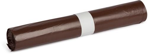 HDPE Afvalzakken, 100L, 58x100 cm, T23, Bruin