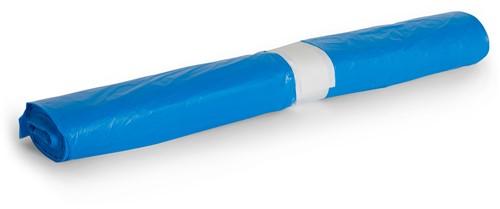HDPE Afvalzakken, 120L, 80x100 cm, T25, Blauw