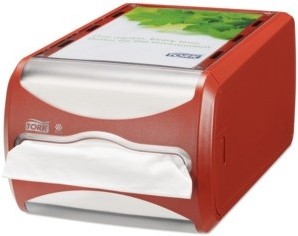 Tork Xpressnap N4 Counter Servet Dispenser, Rood