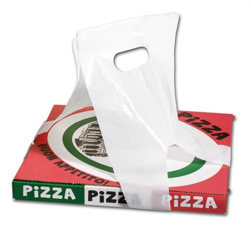 Plastic Pizza en Gebaksdoos Draagtassen