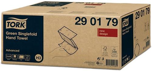 Tork Green Singlefold ZZ-vouw H3 Handdoeken (290179)-3