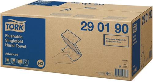 Tork Flushable Singlefold ZZ-vouw H3 Handdoeken (290190)