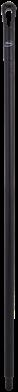 Vikan Ergo. Ultra Hygiëne steel 1300xØ34 mm, Zwart