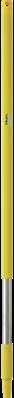 Vikan Ergonomische RVS Steel, 1025mm, Geel