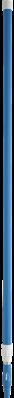 Vikan Ergonomische Telescoopsteel 1575–2780xØ32 mm, Blauw