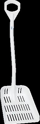 Vikan Ergonomische Schep met uitlekgaten, Wit