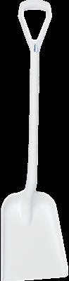 Vikan Ergonomische Schop, D-greep, 1040 mm, Standaard blad, Wit