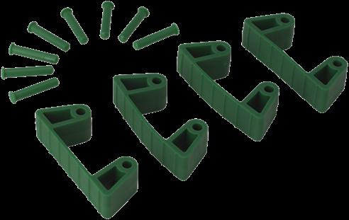 Vikan Klemmen voor Ophangsysteem, Groen