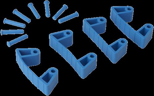 Vikan Klemmen voor Ophangsysteem, Blauw