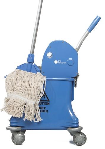 Gejoma Mopwagen Enkel Incl. Pers, 25 L, blauw