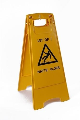 Gejoma Waarschuwingsbord geel 'Let op natte vloer'