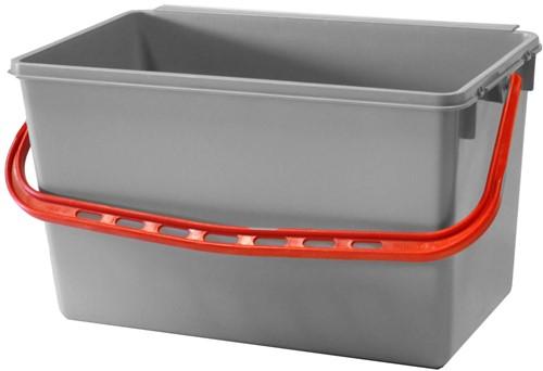 Numatic Grijze emmer 22 liter met rode hendel