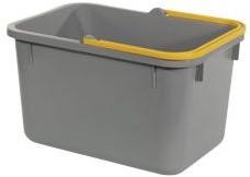 Numatic Grijze emmer 17 liter met gele hendel