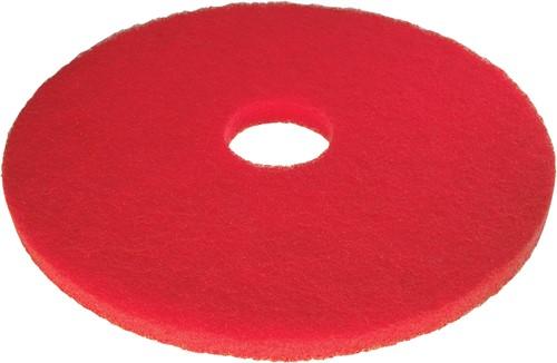 Scotch-Brite Vloerpad Polyester Rood 13, / 330 mm 5st