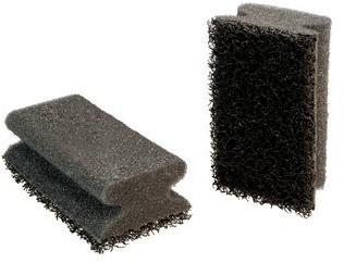 Scotch-Brite Spons Synthetisch Haccp +, handgreep zwart/zwart 90 mm x 70 mm 6st