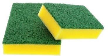 Scotch-Brite Spons Synthetisch Haccp, zonder handgreep groen/geel 158 mm x 95 mm 6st