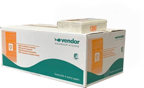 Vendor Handdoekcassette 2lgs wit, 12x55m