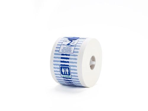 Vendor Toiletpapier 2lgs wit, mix pulp/recycled 48x100m