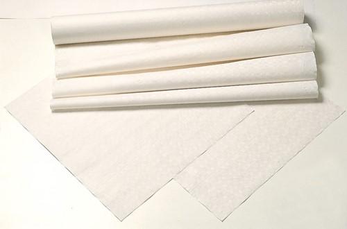Tork Damask Paper Napperon 80x80cm, 1x250 Wit