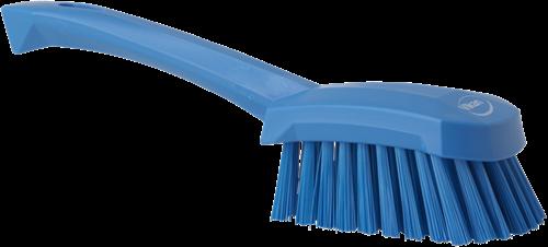 Vikan Afwasborstel, Korte steel, Medium, Blauw