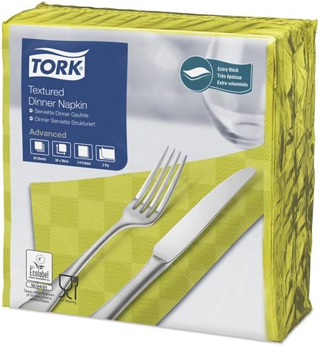 Tork Textured Dinnerservet 2-laags 1/4-vouw Lime