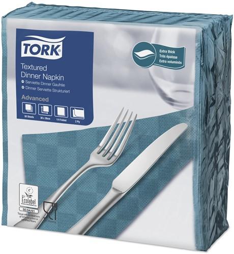 Tork Textured Dinnerservet 2-laags 1/4-vouw BlauwGroen