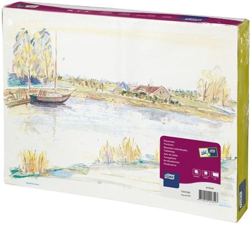 Tork Placemat 31x42cm, Aquarelle