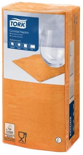 Tork Cocktailservet 24x24cm, 2-laags, 1/4 vouw, Oranje, 12 x 200 stuks