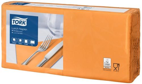 Tork Lunchservet 33x33cm, 2-laags, 1/4-vouw, Oranje, 10 x 200 stuks