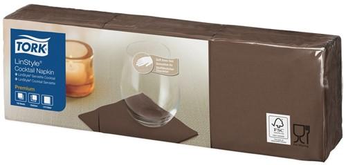 Tork Premium Linstyle Cocktail Servetten, Cacao