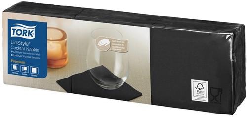 Tork Premium Linstyle Cocktail Servetten, Zwart